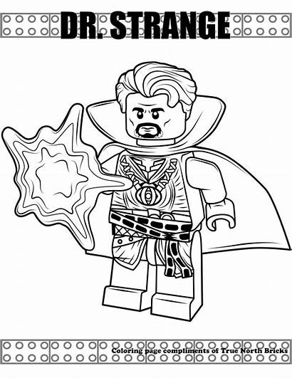 Coloring Strange Lego Dr Avengers Danger Doctor