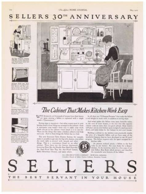 Sellers Hoosier Cabinet Elwood Indiana by 1922 Sellers Kitchen Cabinet 30th Anniversary Ad Elwood