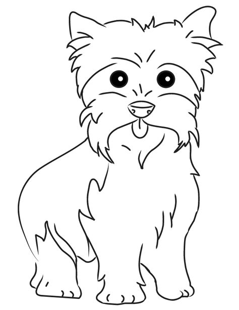 yorkie color page puppy coloring pages dog coloring