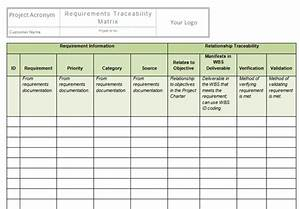 Requirements Traceability Matrix Template