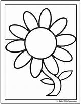 Daisy Coloring Flower Preschool Single Outline Petal Template Pdfs Customizable Clipartmag Colorwithfuzzy sketch template