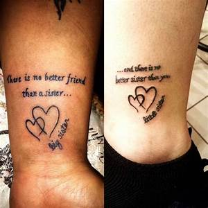 My second tattoo on the right... Sister tattoos