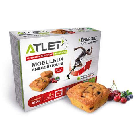Organic energetic sponge cake with red fruits - Atlet