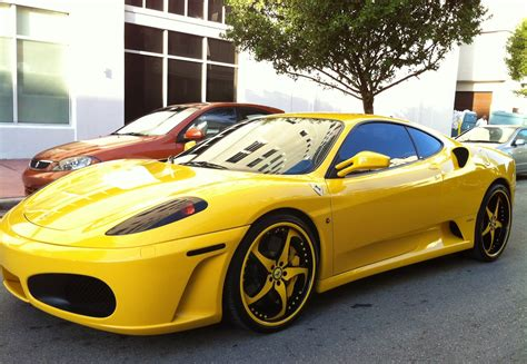 ferrari f430 custom yellow ferrari f430 with custom forgiato rims exotic