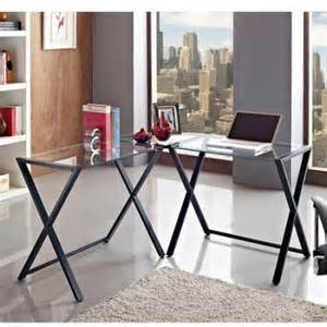 glass and metal x frame corner computer desk black walmart