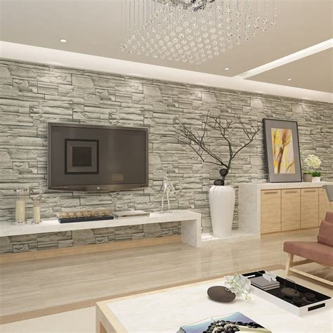 papier peint salon moderne hanmero papier peint motif de brique imitation moderne vinyle pour salon chambre tv fond