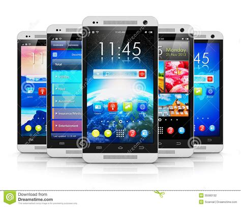 modern smartphone modern touchscreen smartphones stock photography image