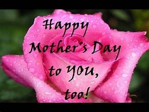 Happy Mother's Day to YOU, too. - YouTube