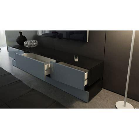 meuble tv fixe au mur meuble tv corps noir et fa 231 ades en turquoise haute brillance et led