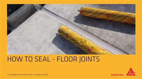 caulking gun application sealing floor joints