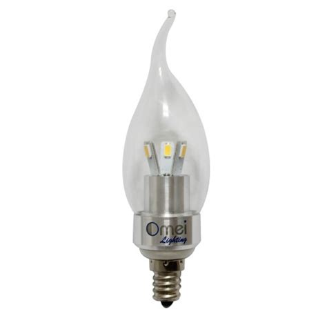 led 3w light bulb e12 candelabra base cool white 6000k