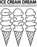 Coloring Ice Cream Crayola sketch template