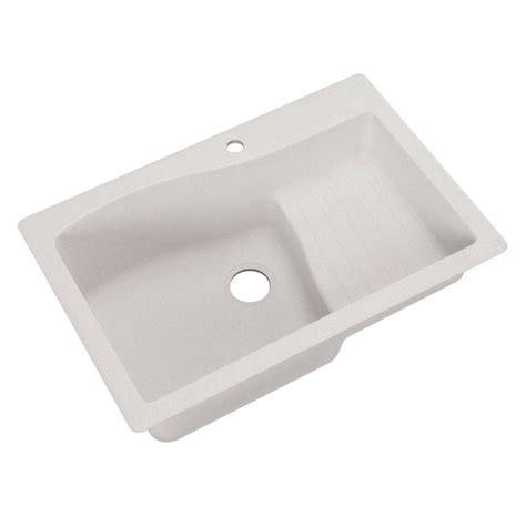 Swan Ascend Dual Mount Granite 33 In 1hole Single Basin