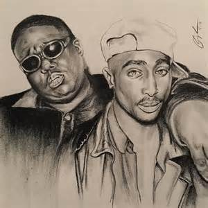 Tupac Biggie Smalls Drawing
