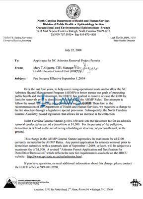 asbestos legal forms