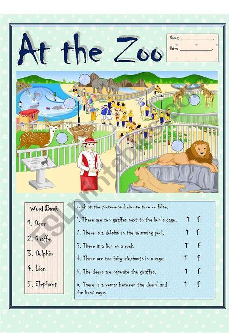 zoo bw version esl worksheet  costaricanangel