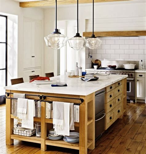 amenagement cuisine ilot central idée de cuisine ouverte pour un intérieur convivial