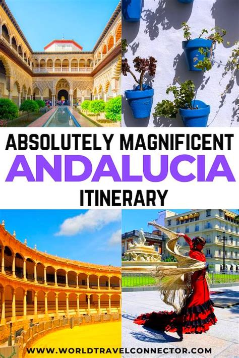 itinerary spain southern andalucia map