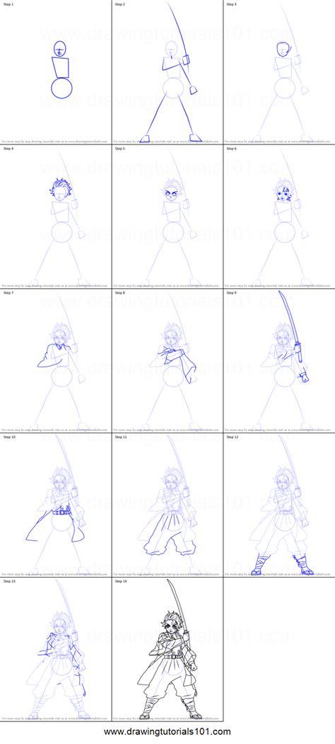 draw tanjiro kamado  demon slayer printable