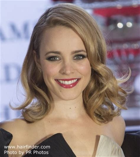 rachel mcadams   long blonde hair styled
