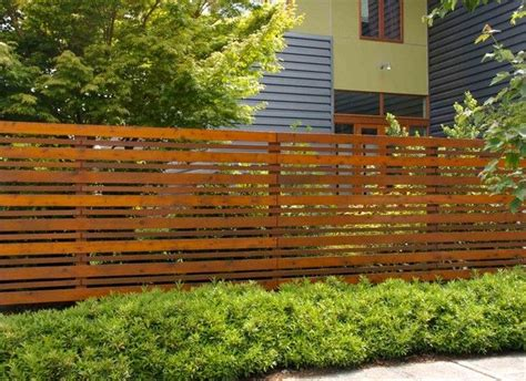 Horizontal Wood Fence Plans In