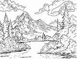 Ross Coloring Bob Outline Crazy Mountain Drawing Official Printable Painting Drawings Trees Paintings Forest Valley Landscape Sheets Nature Happy Tattoo sketch template