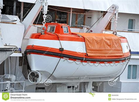 Safety Lifeboat Stock Image. Image Of Nautical Little - 35000095