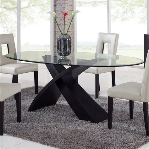 Glas Esstisch Oval by Global Furniture Exclaim Oval Glass Dining Table At Hayneedle