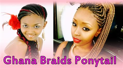 Lovely Ghana Braids Ponytail Hairstyles For Black Women