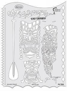 templates masters and products on pinterest With tiki letter stencils