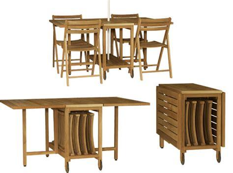 chaise blanche de cuisine gain de place les meubles de jardin pliables décoration
