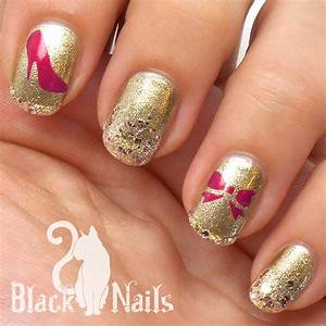 Easy Sticky Nails Stencil Gold & Pink Interview Nail Art ...