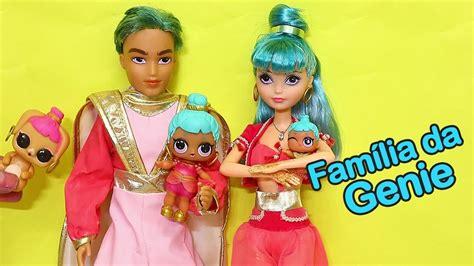 bonecas lol surpresa familia da genie   show de magica