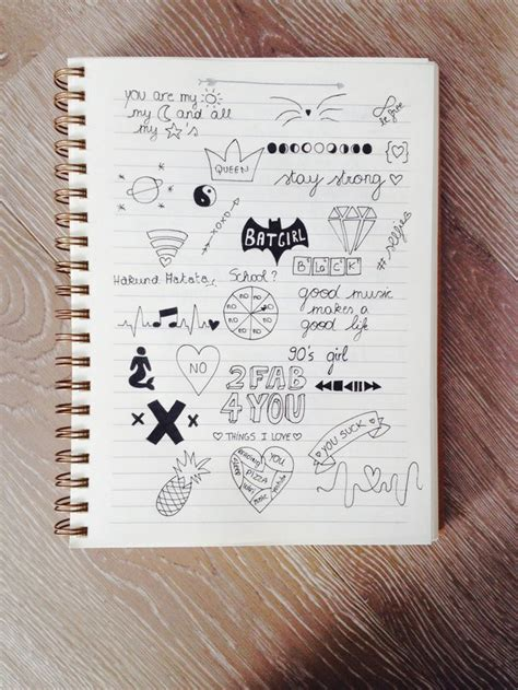 cute notebook doodles tumblr google search artsy