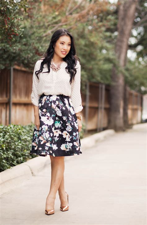 Black Floral Skirt Outfit | www.pixshark.com - Images Galleries With A Bite!