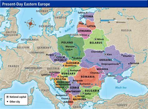map  western  eastern europe  travel information