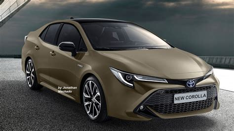 renderings  generation toyota corolla imagined
