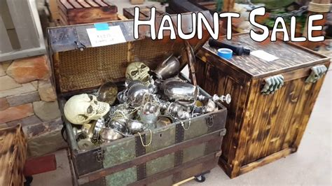 after halloween garage sale haunt props for sale youtube
