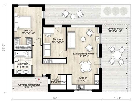 modern two bedroom house plans modern style house plan 2 beds 1 baths 850 sq ft plan 924 3 19289 | w1024