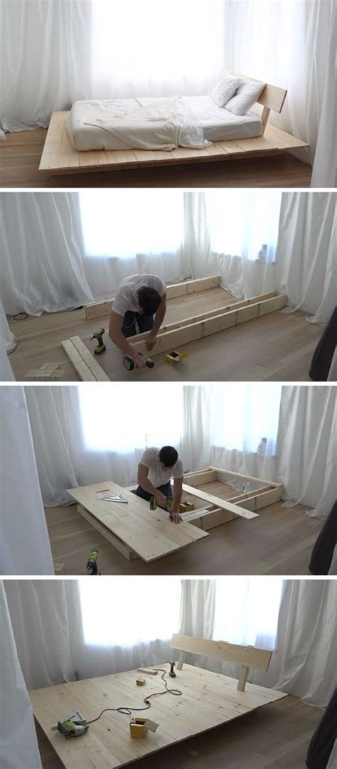 diy platform beds   impressive bedroom