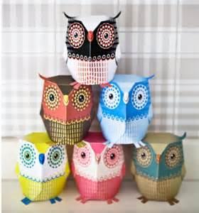 3D Owl Template Printable