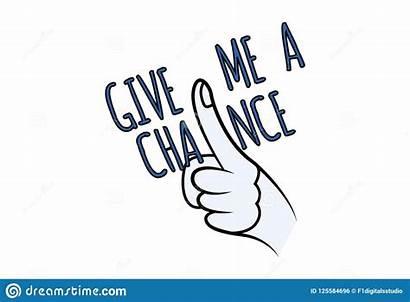 Give Chance Cartoon Finger