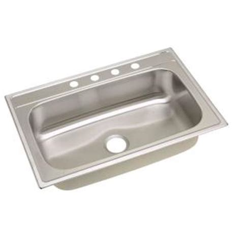 home depot sinks stainless steel elkay signature drop in stainless steel 33 in 4
