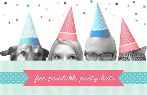 Birthday Hats Dog Printable Party