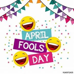 April fools day card design clipart
