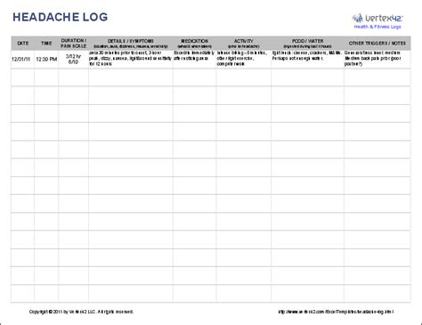 use a headache log to help identify triggers