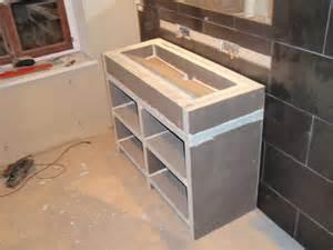 faire un meuble de salle de bain en wedi