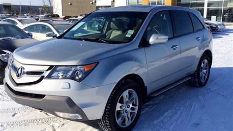 pre owned silver  acura mdx sh awd technology package