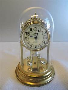 Vintage Schmid Miniature Anniversary Wind Up Clock  With