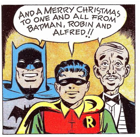 merry christmas from batman robin and alfred